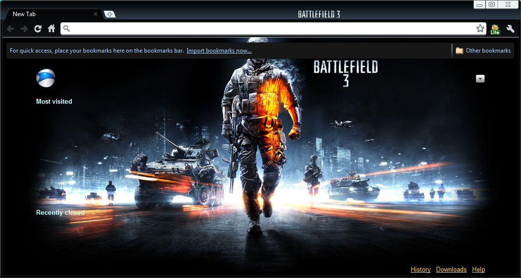 Battlefield 3 Theme for Chrome 003