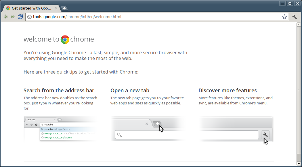 Google Chrome running in Linux Mint / Ubuntu