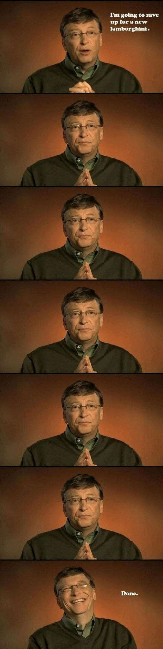 bill gates saves for a lamborghini