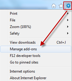 Manage add-ons in Internet Explorer 9