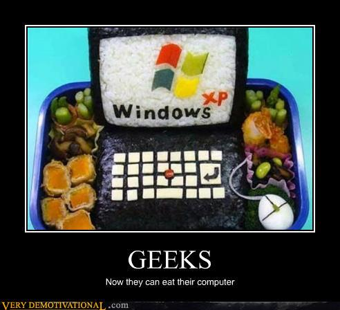 A geek lunch
