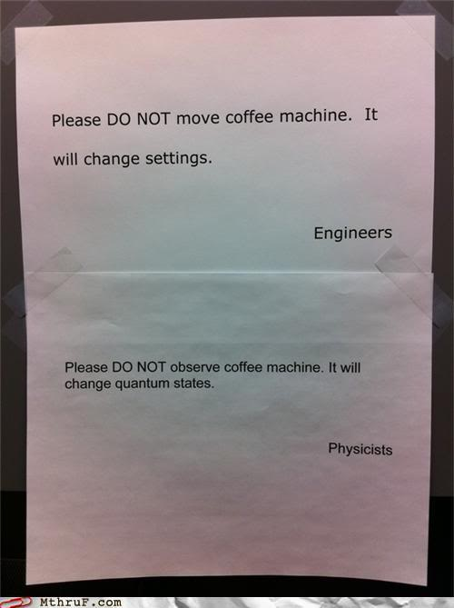 Engineers v/s physicists