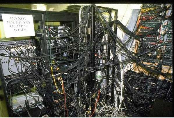 Messy server room