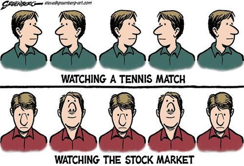 Tennis match v/s stock market