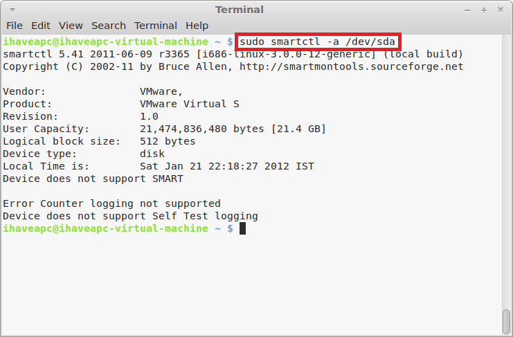 How To Quickly Check HDDs For SMART Errors Using Linux Mint / Ubuntu Terminal