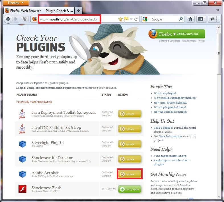 How To Quickly Check And Update Your Firefox Plugins Selectively