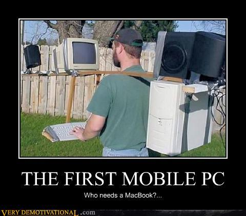 The first mobile PC : funny
