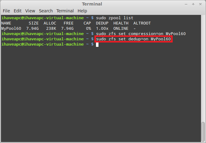 Installing And Using ZFS In Linux Mint / Ubuntu – Part 4