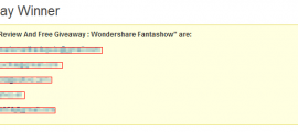 Winners of Wondershare Fantashow giveaway