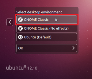 How To Get Back Classic Gnome Desktop In Ubuntu 12.10 'Quantal Quetzal'