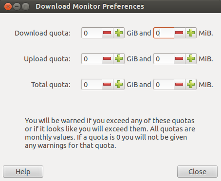 Setting data usage quotas in Download Monitor
