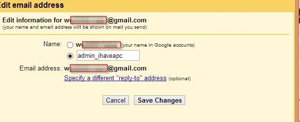Changing the existing Gmail username
