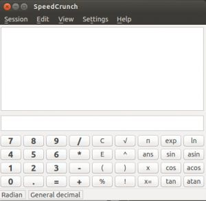 Main user interface of SpeedCrunch