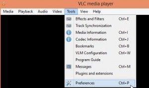 VLC player preferences