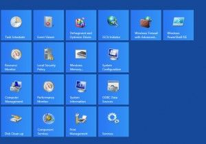 List of administrative tools for Windows 8