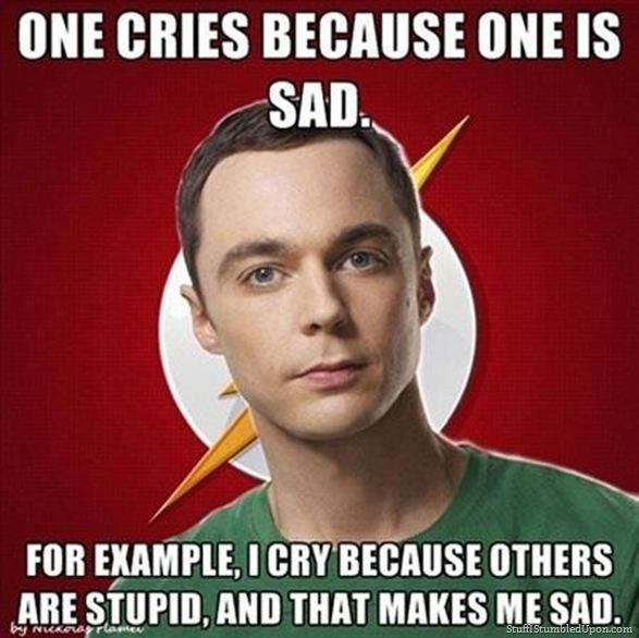 The logic of Dr.Sheldon Cooper