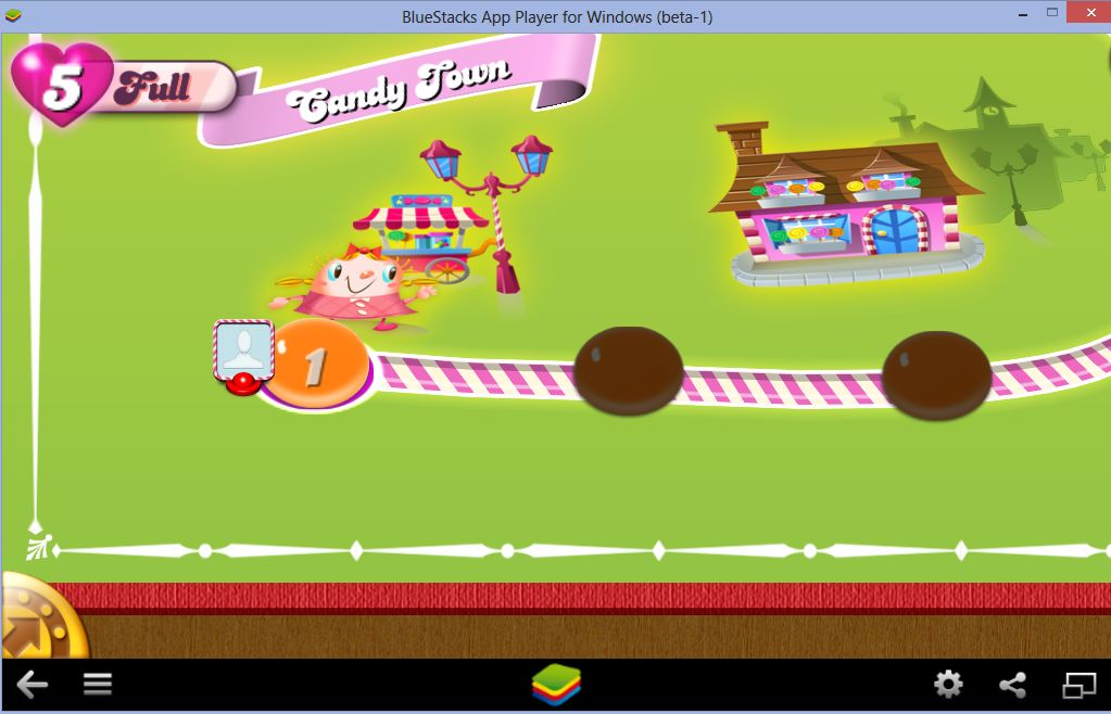 Candy Crush app in BlueStacks App Player
