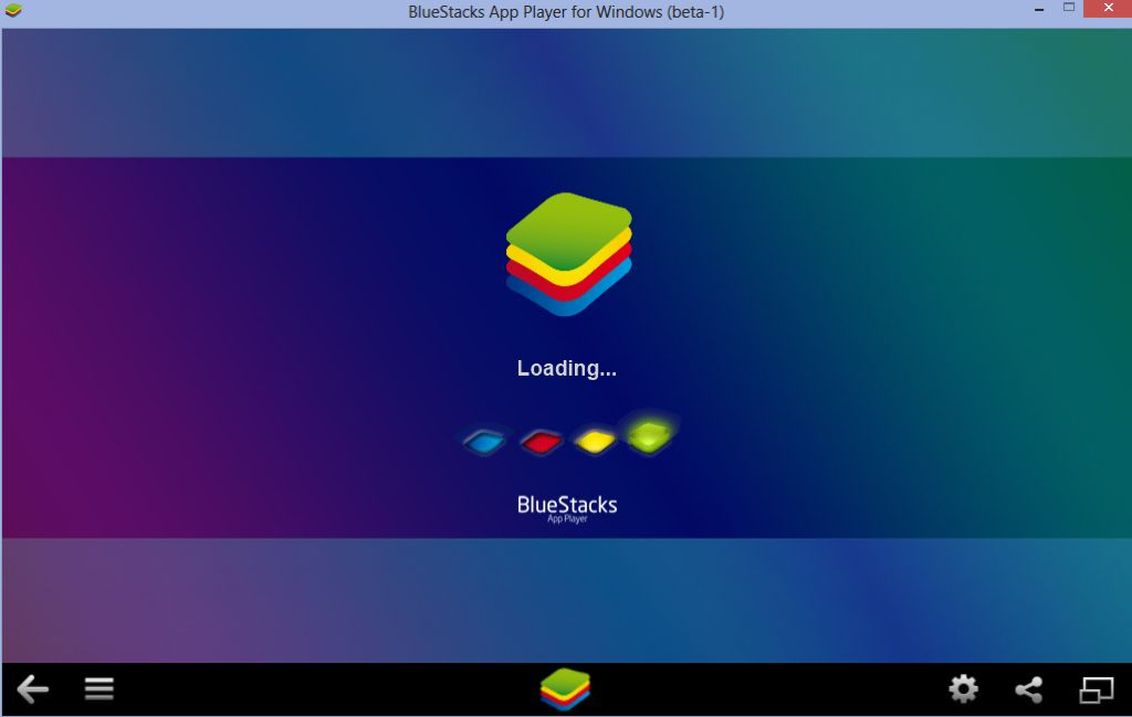 BlueStacks App Player boot up