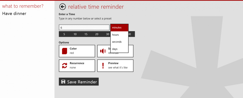 Customize reminders in RemindMe