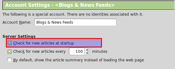 Automatically fetch RSS feed articles at startup