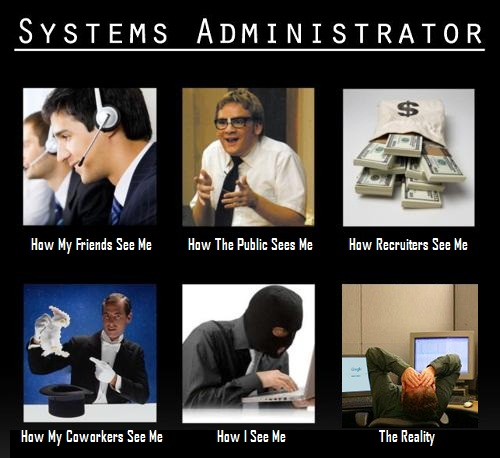 The many moods of sysadmin : funny