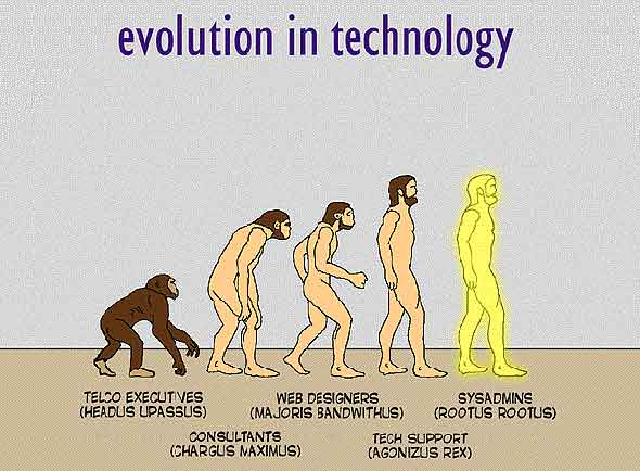 how techies evolved : funny