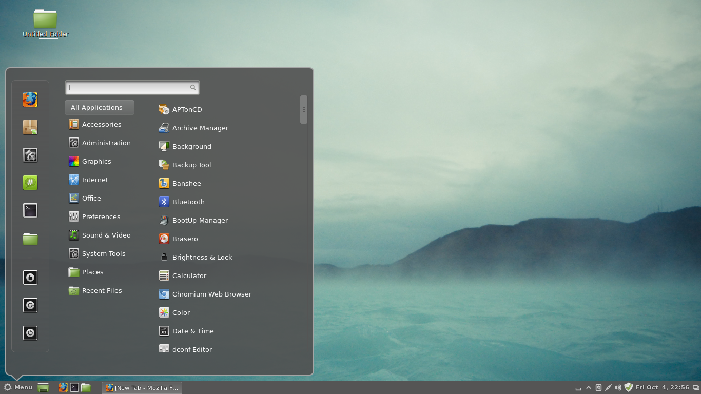 Cinnamon environment in Linux Mint 15