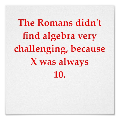 Romans and algebra : funny