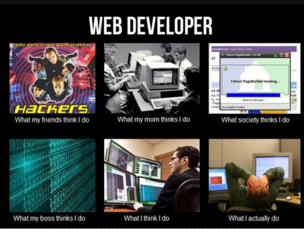 the life of a web developer : funny