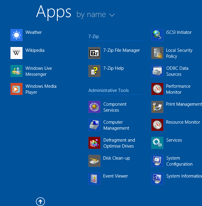 Windows 8.1 Apps View