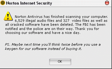 anti-virus scan results : funny