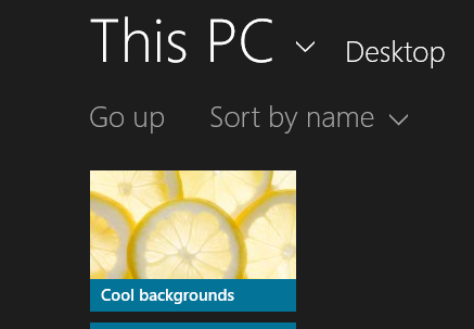 Custom folder for background slideshow in Windows 8.1