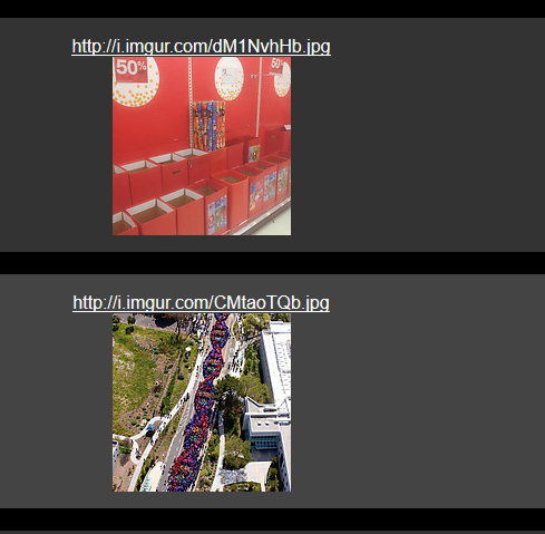 single tabbed view of images through img2tab