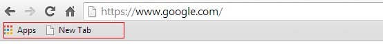 Bookmarks bar enabled in Google Chrome