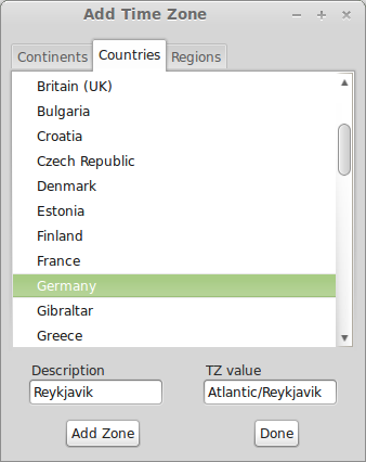 adding timezones - countries
