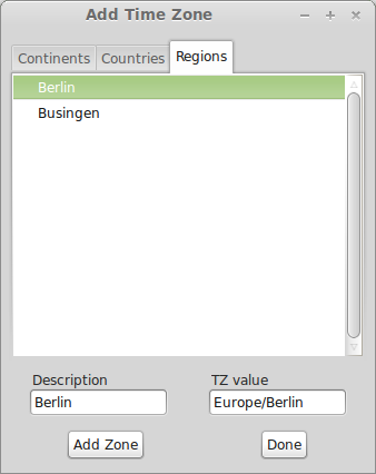 adding timezones - regions