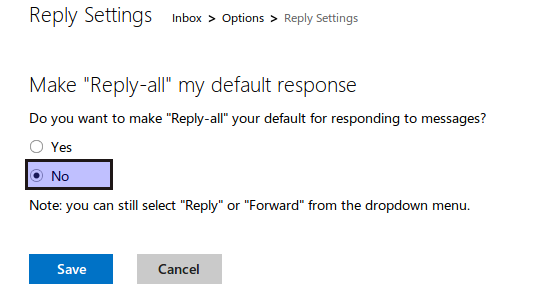 turn Reply-all on or off in Outlook.com