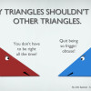 when two triangles date : funny