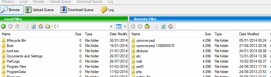 Graphical file manager after logging in to remote server via Bitvise SSH client