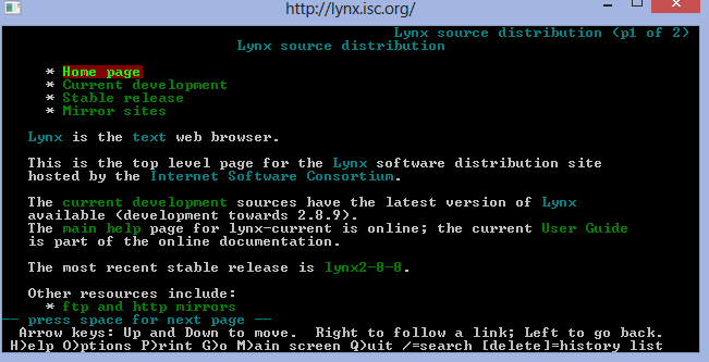 Lynx for Windows