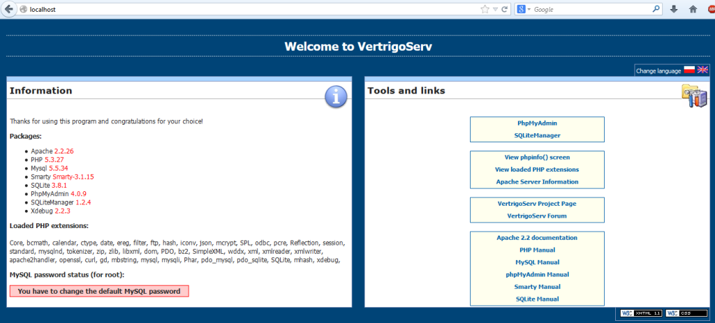 local web server using VetrigoServ