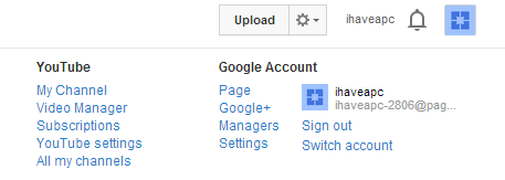 Accessing video manager in YouTube