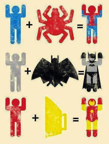 how superheroes are created : funny