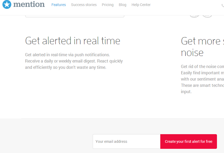 mention web alerts home page