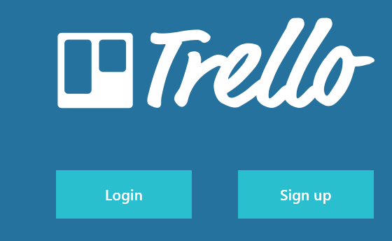 Signing in to Trello