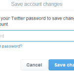 Saving the new changes in Twitter