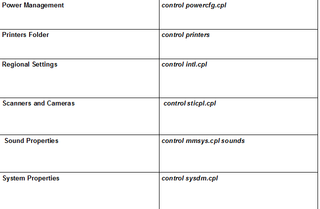 Windows control panel cheatsheet page 3