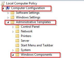 accessing local computer policy editor in Windows 8.1