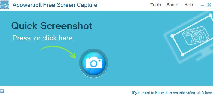 screenshot.net user interface for taking screenshots