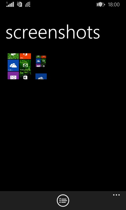 Screenshots taken are stored in screenshots folder of Windows 8.1 phone
